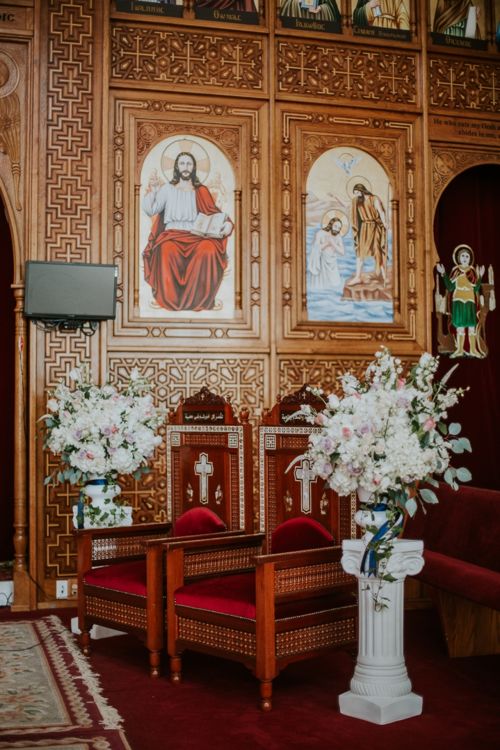 coptic engagement church alter
