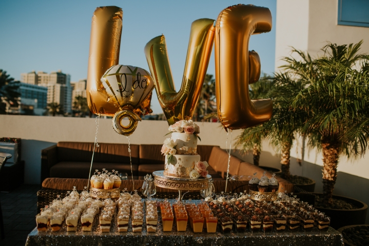 dessert table for coptic engagement party on clearwater beach